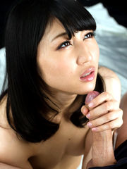 Stellar asian obedient gives a hand job..