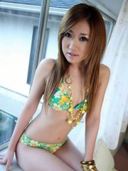 Yuria Hidaka school mini-skirt and undies