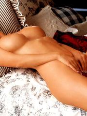 Hot towheaded centerfold Cassandra Lynn..