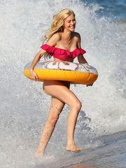 Kat Torres showing off her warm  in..