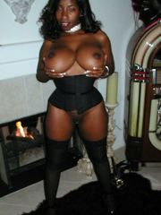 Big titted ebony MILF attempts on..