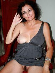 Cougar 50 Yr  Dark-hued Puss  Fellating..