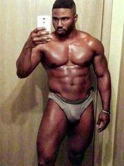 Rough black men taking bare-chested..