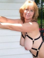 Light-haired mature wifey in fetish..
