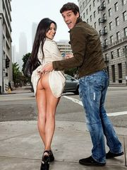 Street whore Jasmine Rain railing euro..