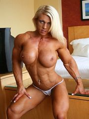 Huge-chested sumptuous ash-blonde with..