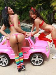 Little latina gal Emy Reyes and..