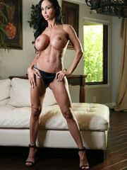 Big-boobed Cougar Nubs Jade strips and..
