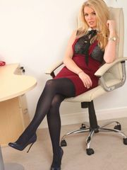 Marvelous office damsel in ebony..