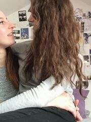 Saskia and Lily Uber-cute lesbo duo -..
