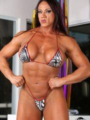 Mature female bodybuilder Amber Deluca..