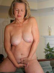 Whorish mature wifey opening up boobies..