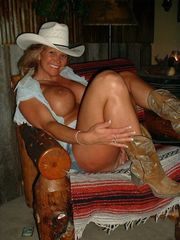 Huge orbs mature cowgirl awaits for..