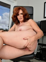 Fantastic busty crimson hot milf with..