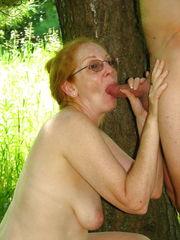 Grandmothers mature milf deep throat hj..