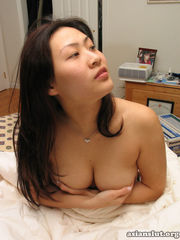 Lusty busty chinese lady individual..