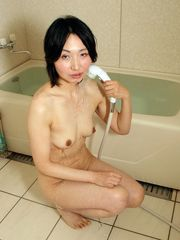 Bare chinese nymphs nude in shower,..