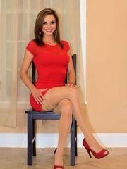 Ashley Sinclair on crossed gams for me