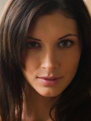 Brunettes ladies close-up models faces..
