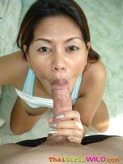Thai cockslut sucking fuck-stick and..