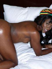 Young ebony babe Ana Foxxx gets..
