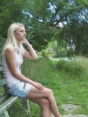 Blond tiny fucked after breakup by..