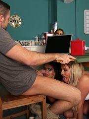 Secret bj under dinner table first-ever..