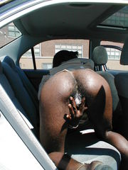 Senior black mammy shows his unshaved..